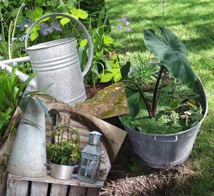 Jardin et r cup confidences entre filles - Idee deco jardin avec recup ...